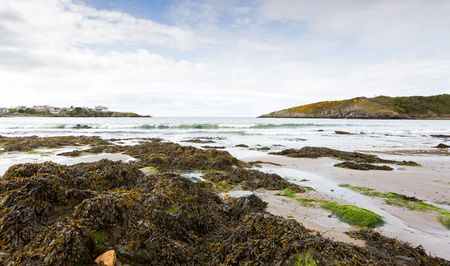 Wide angle view of Cemaes Bay in Anglesey, North Wales