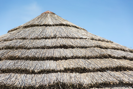 Thatched roof on a small hut