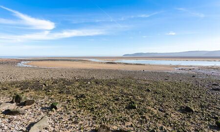 Low tide at Red Wharf bay in Anglesey, North Wales, UK