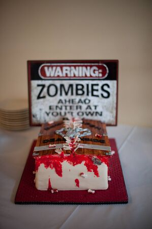 themed: Grooms Cake