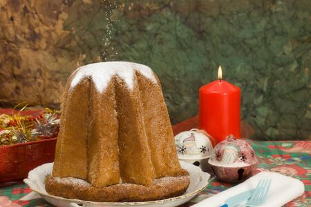 Il pandoro, tradition Christmas Stock Photo