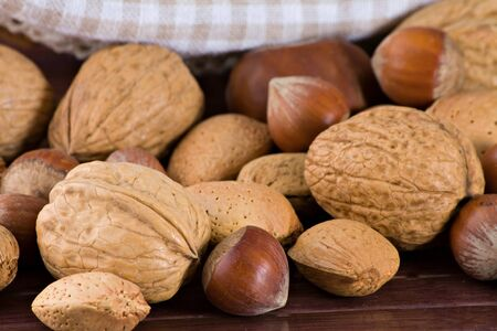 Nuts and dried figs Stock Photo