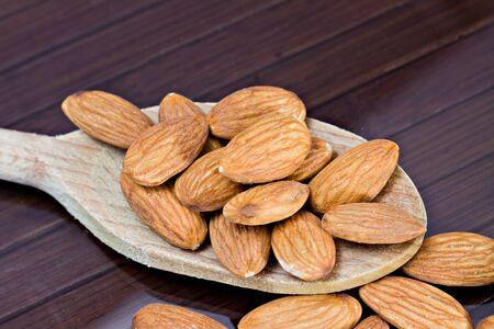 apricot kernel: Almonds Stock Photo