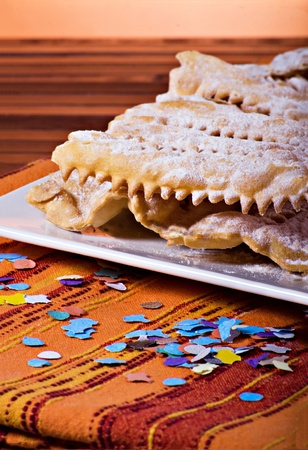crostoli: Chiacchiere - Traditional italian carnival pastry