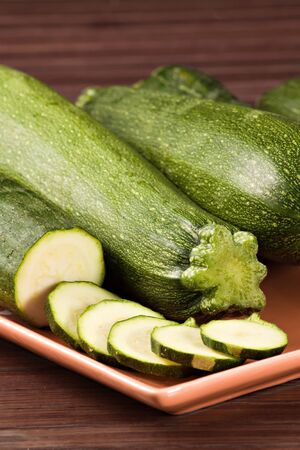 Zucchini  Cucurbita pepo Stock Photo