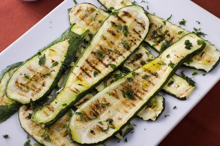 Grilled zucchini photo