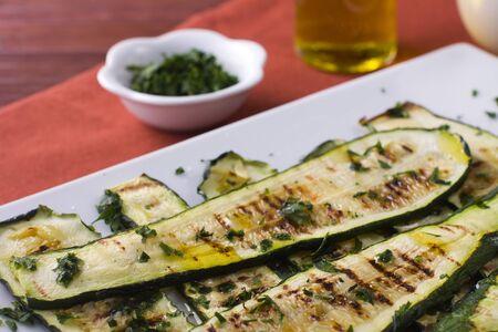 Grilled zucchini photo