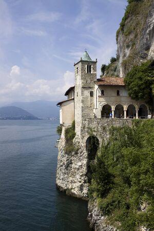 St  Catherine monastery  Eremo S Caterina del sasso - Va  IT  Stock Photo