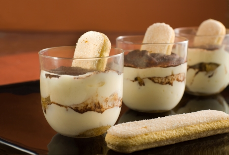 Traditional Italian dessert -  Tiramisu photo