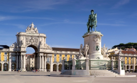 Plaza do comercio - Lisbon  Portugal  photo