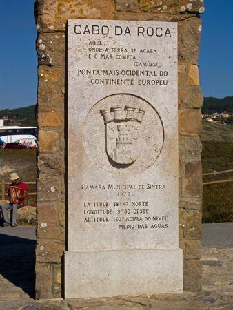 roca: Cabo da Roca - Portugal Stock Photo