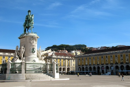 King Joseph I statue - Lisbon  Portugal  photo