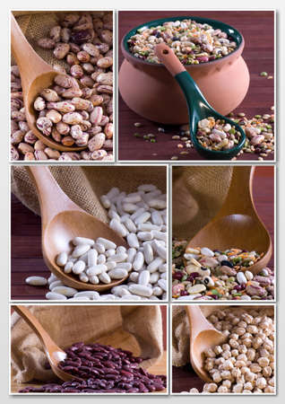 Legumes - Collage Stock Photo
