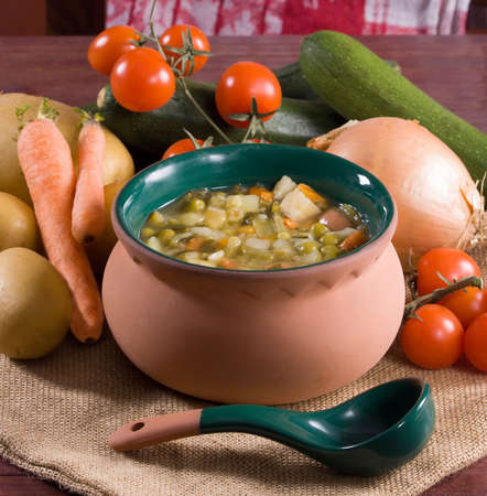 Minestrone - Italian vegetable soup photo