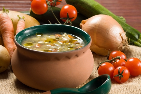 soup bowl: Minestrone - Italian vegetable soup