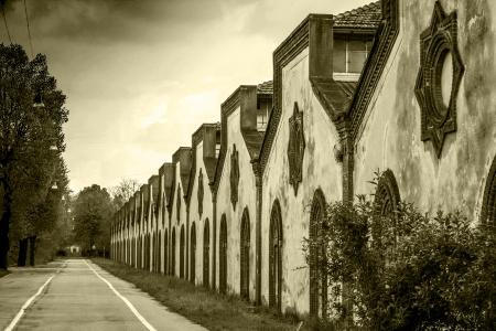 industrial heritage: Crespi D Adda village  It  - Unesco site