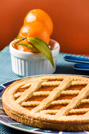 Fruit tart (crostata) photo