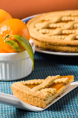 Fruit tart (crostata) Stock Photo - 26213895
