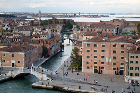 View of the Bridge Academy in Venice (Italy) Editorial