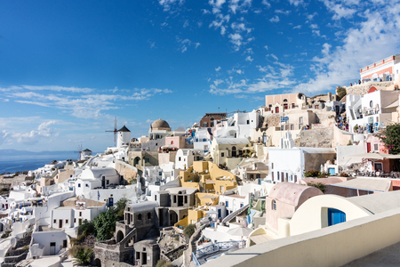 Panorama of Oia village in Santorini (Greece) Editorial