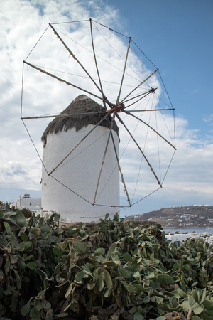 Local windmill structure in Mykonos (Greece) Stock Photo