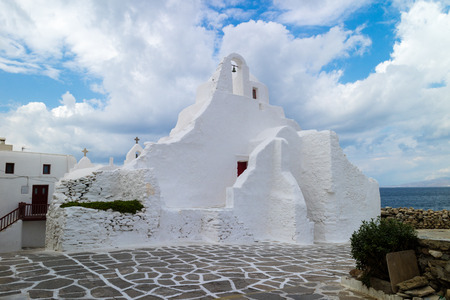 Local typical church in Mykonos (Greece)