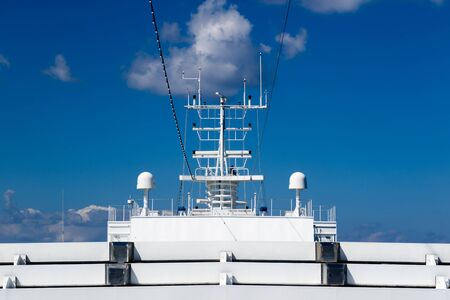 The radar system of a cruise ship