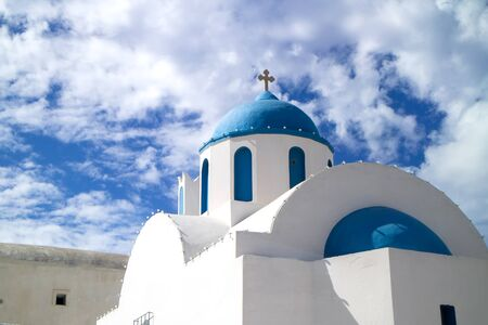 The typical orthodox church in Greece. Stock Photo