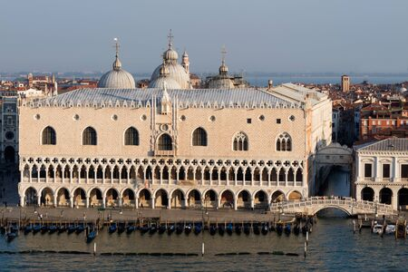 San Marco square in Venice and the famous bridge.