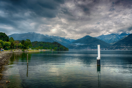 A beautiful landscape of Como s lake.
