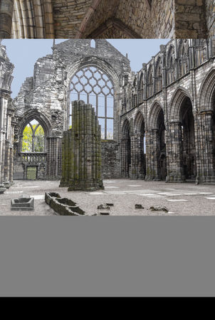 The ruins of Holyrood Abbey Edinburgh Sajtókép