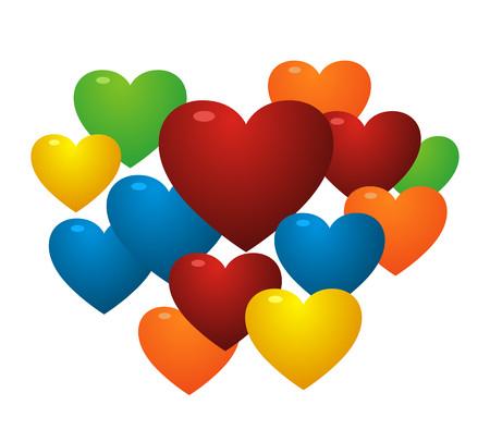 colorful love baloon Illustration
