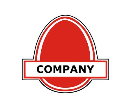 red egg natural fresh food breakfast ingredient healthy protein eat logo design idea concept illustration Illusztráció