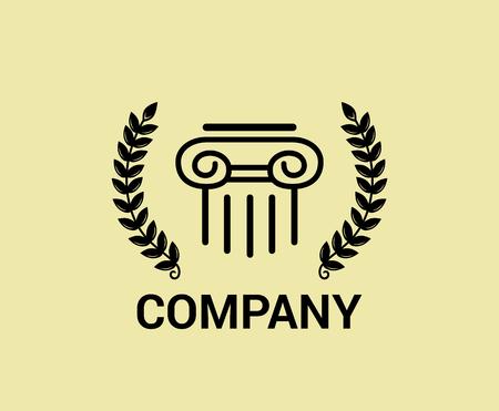 brown  property rome italian architecture building company logo design concept vector illustration