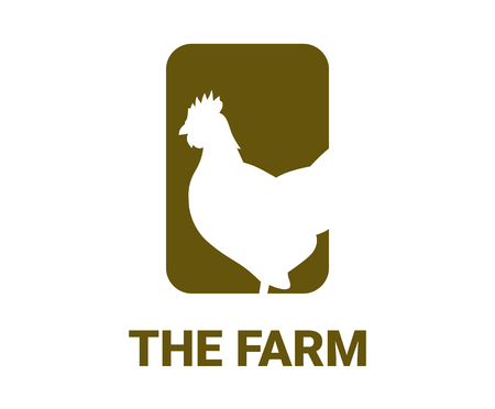 live stock logo design illustration concept use for agriculture business and industries with chicken silhouette