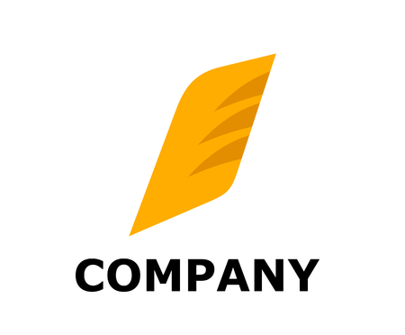fin or wing logo design illustration for any business company corporate industry