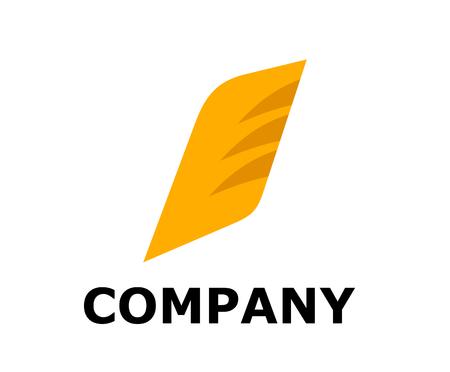 Ilustración de diseño de logotipo de aleta o ala para cualquier industria corporativa de empresa comercial Logos