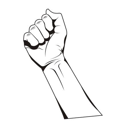 people hand arm hold tight gesture pose symbol design illustration concept Ilustração
