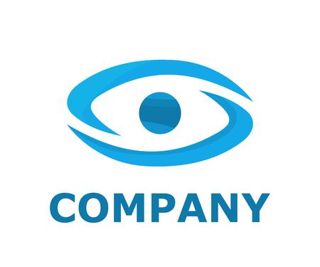 couleur bleu clair oeil logo design illustration logo concept pour entreprise de santé ou hôpital