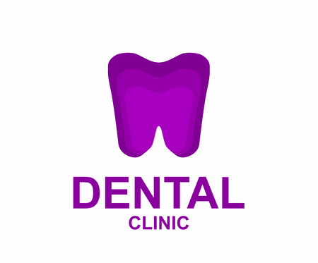 purple tooth silhouette for dental clinic logo design idea design illustration