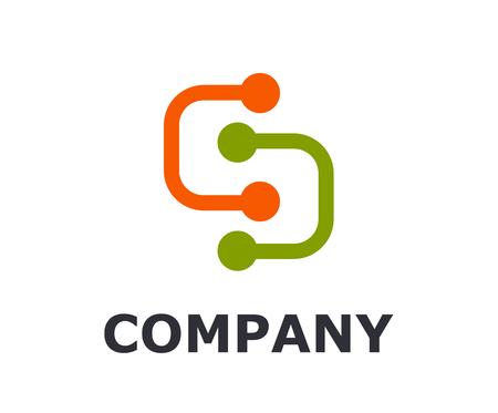 Élément électrique centrale électrique mécanique véhicule forme type lettre s logo design illustration pour entreprise électrique Logo