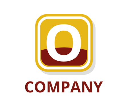 red and orange color glasses square box button web logo graphic design with modern clean style for any professional company with initial type letter o on it Logo