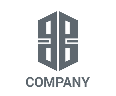 grey color house building architecture construction shape geometric mark logo concept design illustration for premium corporate construction industry Illustration