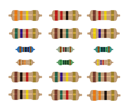 resistor electricity picture vector design illustration for education or industrial need