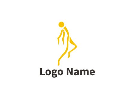 Silhouette of active people dancing. Logo for dance classes, healthy generic activity. Simple icon for websites, info graphics, Foto de archivo - 138538297