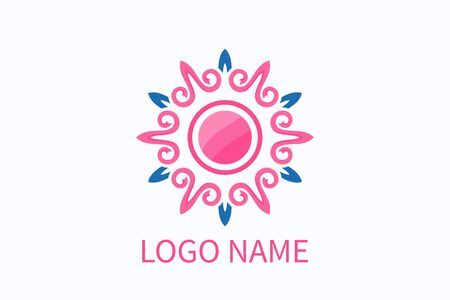 love logo design from heart icon shape geometrical formation like flower, star and mandala. For boutique, fashion, health, community, business company.