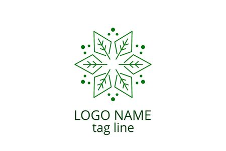 Creative leaf icon sign design. Template logo for any business like healthy organization, consultant, finance, hospital, investment corporate, resident company. Ilustracja