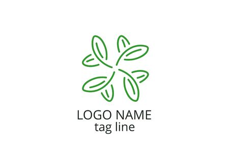Creative leaf icon sign design. Template logo for any business like healthy organization, consultant, finance, hospital, investment corporate, resident company. Ilustrace