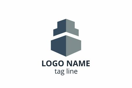 Creative shape structure design. Template icon logo for architecture agency interior exterior. Or any other company like apartment, residential, building.