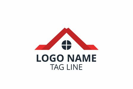 Creative shape structure design. Template icon logo for residential, construction corporate. Or any other company like apartment, villa, estate, house, building. Ilustrace
